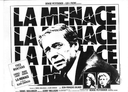 Yves, Simone, Édith et les autres…  La Menace, le film aux 1 400 000 spectateurs d'Alain Corneau, sorti en 1977 avec à l'affiche Yves Montand, Carole Laure, Marie Dubois et Jean-François Balmer, réunissait cette fois 169 312 € à Drouot Lundi 26 juin, salle 5 - Drouot-Richelieu.  Digard Auction OVV. Mme Lamort, Mm. Ardan, Emeric et Stephen Portier.