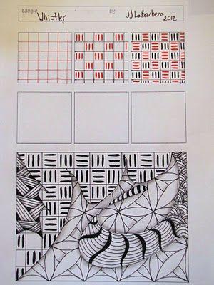 Tinker Tangles: Tangle Pattern: Whistler