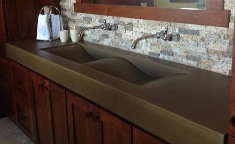 concrete countertops do it yourself concrete countertops concrete sinks for a home or office. Black Bedroom Furniture Sets. Home Design Ideas