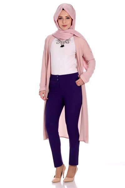 Kalem Pantolon 7007 - Mor Pantolon Modelleri - Kirazgiyim