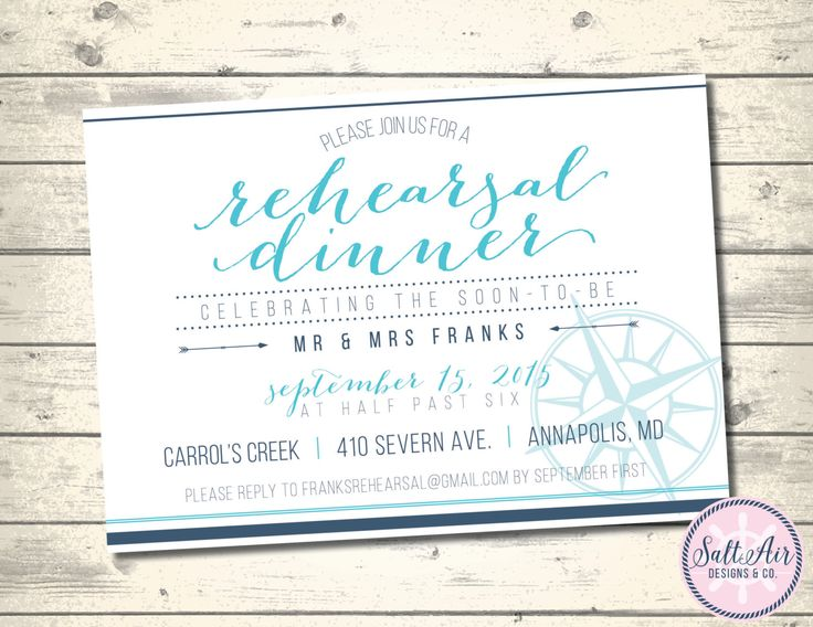 Printable Nautical Rehearsal Dinner Invitation. Nautical Compass. Teal & Navy Invitation. by SaltAirDesignsCo on Etsy