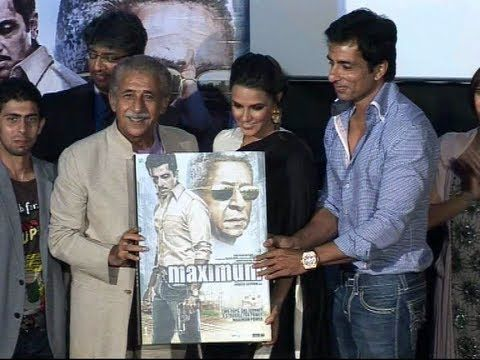 Music launch of the movie 'Maximum' | Sonu Sood, Naseeruddin Shah, Neha Dhupia.