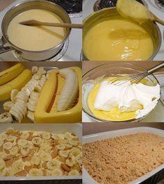 Receita de Pavê Fácil de Banana – Tasty Demais Ingredientes: PARA O CREME 2 caixas de flan (ou pudim) de baunilha 500ml de leite frio 1 lata de leite condensado 1 colher de sopa de baunilha 1 colher de sopa de margarina 450g de chantilly batido PARA A MONTAGEM 2 pacotes de biscoito maisena 6 …