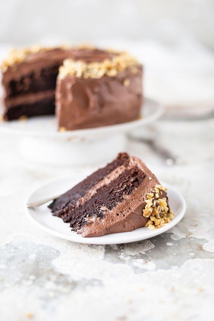 Maybe The Best Chocolate Cake In The World By Ina Garten Recipe Amazing Chocolate Cake Recipe Best Chocolate Cake Cream Recipes