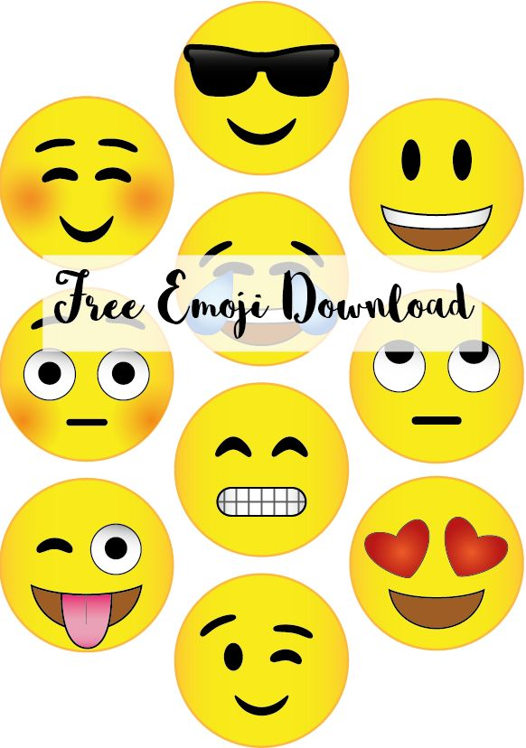 Lucrative image within free printable emoji faces