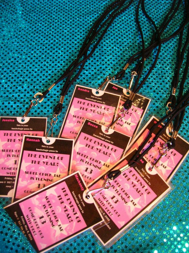 Lanyard VIP passes for invites