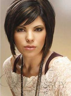 Monofilament Top 100% Human Hair Mixed Color with Bangs 8 inches Short Straight Wig