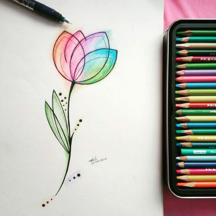"""""""Un tulipán no trata de impresionar a nadie. No se esfuerza en ser diferente de una rosa, no tiene que hacerlo. Es diferente y hay sitio en el jardín para cada una de las flores."""" Esta es la ilustración para mi primer tatuaje."""