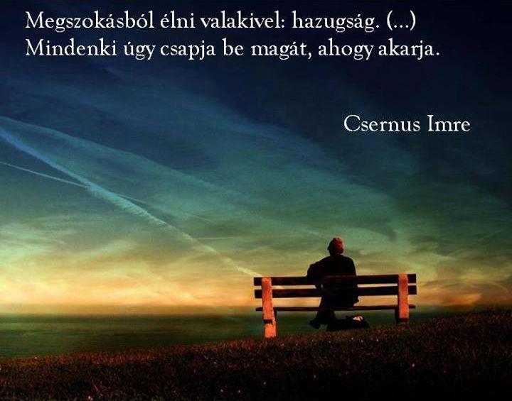 Csernus Imre idézete a megszokásról. A kép forrása: DJ FREE