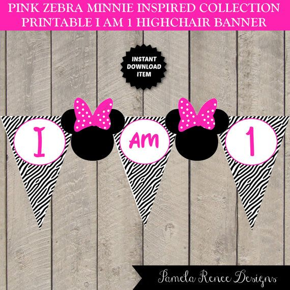 1000+ Images About Minnie Mouse Pink Zebra Birthday Party