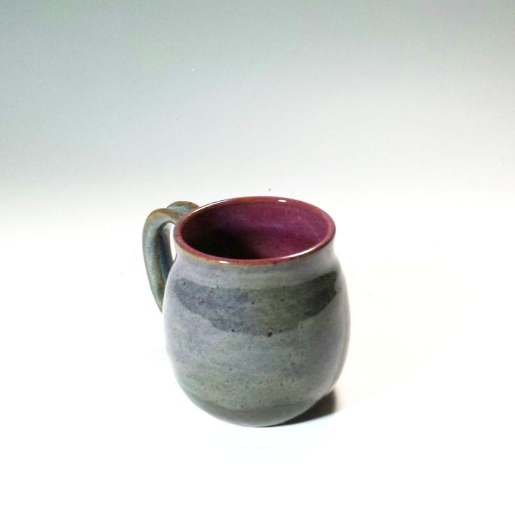 Purple green Ceramic Pottery,Coffee Mug,Purple Tea Mug,Unusual Mug,Unique Pottery Mug,Ready to Ship,purple pottery mug,purple stoneware mug by SoulShinePottery on Etsy