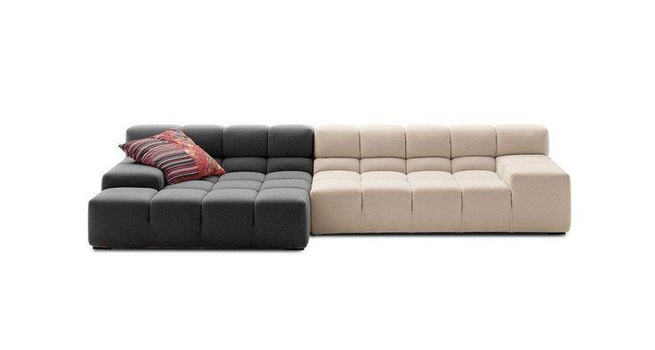 Диван Tufty-Time Sofa,  Модель выполнена на деревянном  каркасе,  состоит из двух разных половинок, отличающихся по цвету (серый и кремовый) и по ширине, с плоскими  подлокотниками, наполнитель - мебельный  поролон, с одной декоративной подушкой.   Удобный аксессуар  для современного стиля гостиной.             Метки: Большие диваны.              Материал: Ткань.              Бренд: DG Home.              Стили: Лофт, Скандинавский и минимализм.              Цвета: Бежевый, Серый.