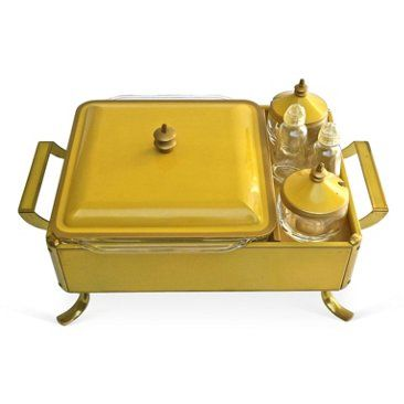 Check out this item at One Kings Lane! Chafing Dish & Condiments Set, S/5