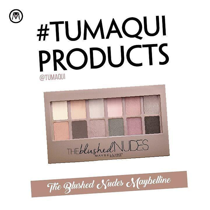 Con la nueva paleta de Maybelline The Blushed Nudes puedes crear infinitas combinaciones con sus 12 tonos de rosas suaves y bronces intensos que te harán conseguir múltiples efectos en tu mirada. - #tumaqui #makeup #maquillaje #tips #belleza #contorno #makeuplover #makeuprevolution #labios #lipstick #iluminador #vidademaquilladora #gloss #blogger #envios #gratis #nacional #internacional #box #productos #instamakeup #base #blush #maquillador #delineador #makeupaddict #fashion #mujer #moda…
