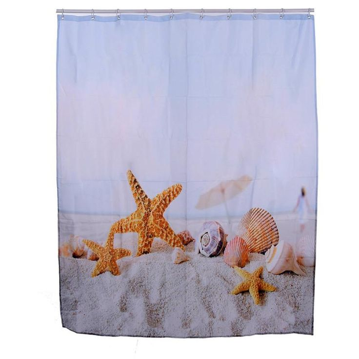 SPA Waterproof Shower Curtain Bathroom Decor Jasmine Flower Decorations Green Bamboos / Fall Trees / Star Fish Sea Shell