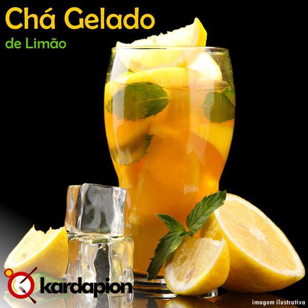 Chá Gelado de Limão, uma boa bebida para hoje, refrescante e ainda hidrata o organismo. Sugestão: #beber #chaGeladoDeLimao  Sabia onde em: www.kardapion.com/beber-cha-gelado-de-limao