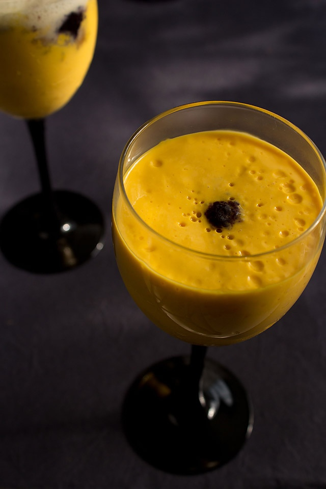 Mousse recipe idea - quick mango mousse. For a low fat version use quark instead of cream.Tried and tested with quark, peaches, brandy and honey. Very nice.
