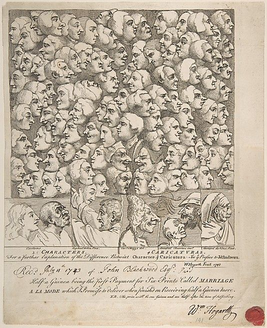 Characters and Caricaturas William Hogarth (British, London 1697–1764 London) Date: April 1743