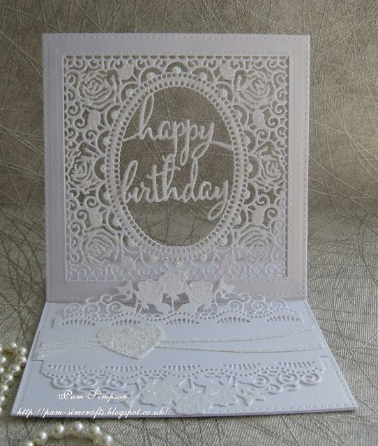 pamscrafts: Lacy Frame . Easel Card.