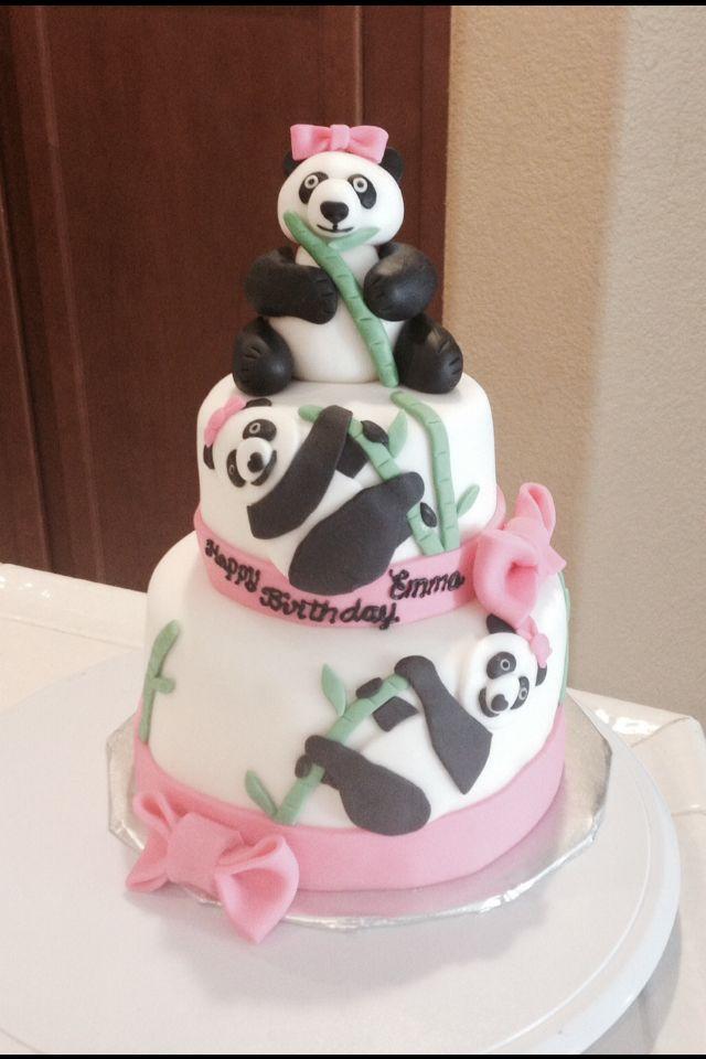 Panda Cake Panda Baby Showers Birthday Cake Girls Girl