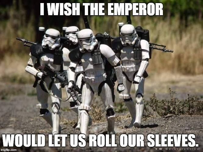 It's a little hard to roll armor sleeves, but we'll figure it out (via Military Memes)