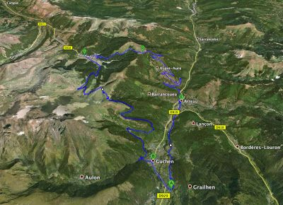 Ancizan to Col d Aspin to Arreau