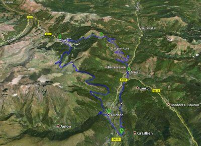 Ancizan to Col d Aspin to Arreau