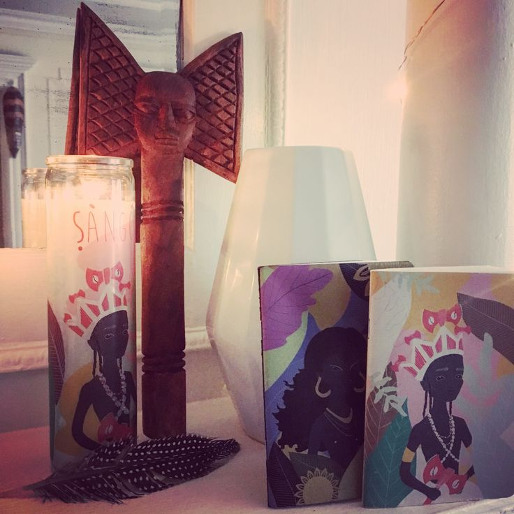 Shango and Oshun prayer candle and Notebook