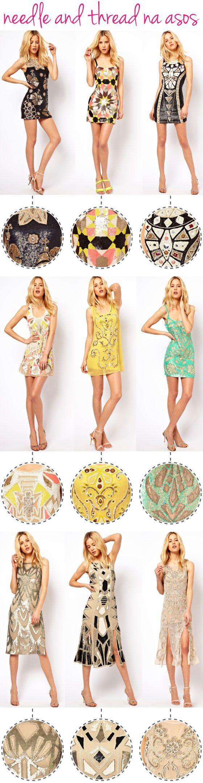 Needle and Thread, Asos, compras online, vestidos bordados, festa, preço, miçangas, canutilhos, paetês, marca,
