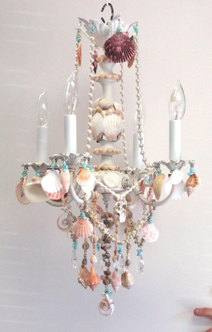 1000 ideas about beach chandelier on pinterest hard for Chandelier craft ideas