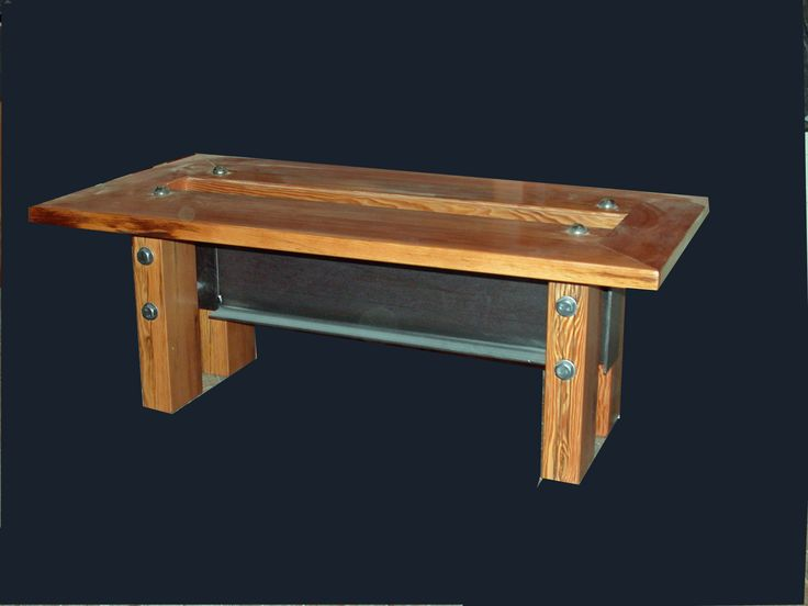 Industrial Modern Coffee Table With Reclaimed Wood
