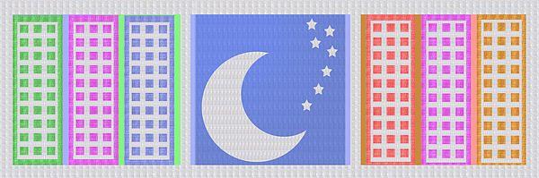 MOON STARS PLANETS COSMOS SKY PHOTO