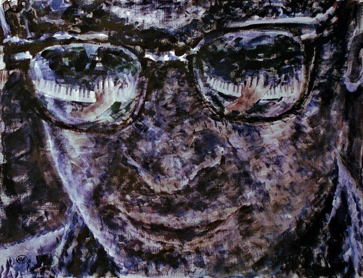 "Yury Ermolenko, ""Eyes of jazz"", 2009, acrylic on canvas, 90x125cm. #YuryErmolenko #еrmolenko #ЮрийЕрмоленко #ермоленко #yuryermolenko #юрийермоленко #юрийермоленкохудожник #юрiйєрмоленко #ЮрiйЄрмоленко #єрмоленко #rapanstudio #modernart #fineart #contemporaryart #painting #impressive #expressive #art #picture #живопись #портрет #portrait #texture #jazz #jazzclub #jazzfest #музыкант #musician #jazzy   #eyes #piano #glasses #глаза #клавиши #pianokeys #искусство #художник #живописец  #music"