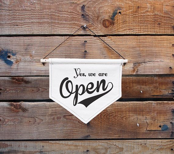 Canvas Hanging sign-Open/Closed by Arttempo on Etsy