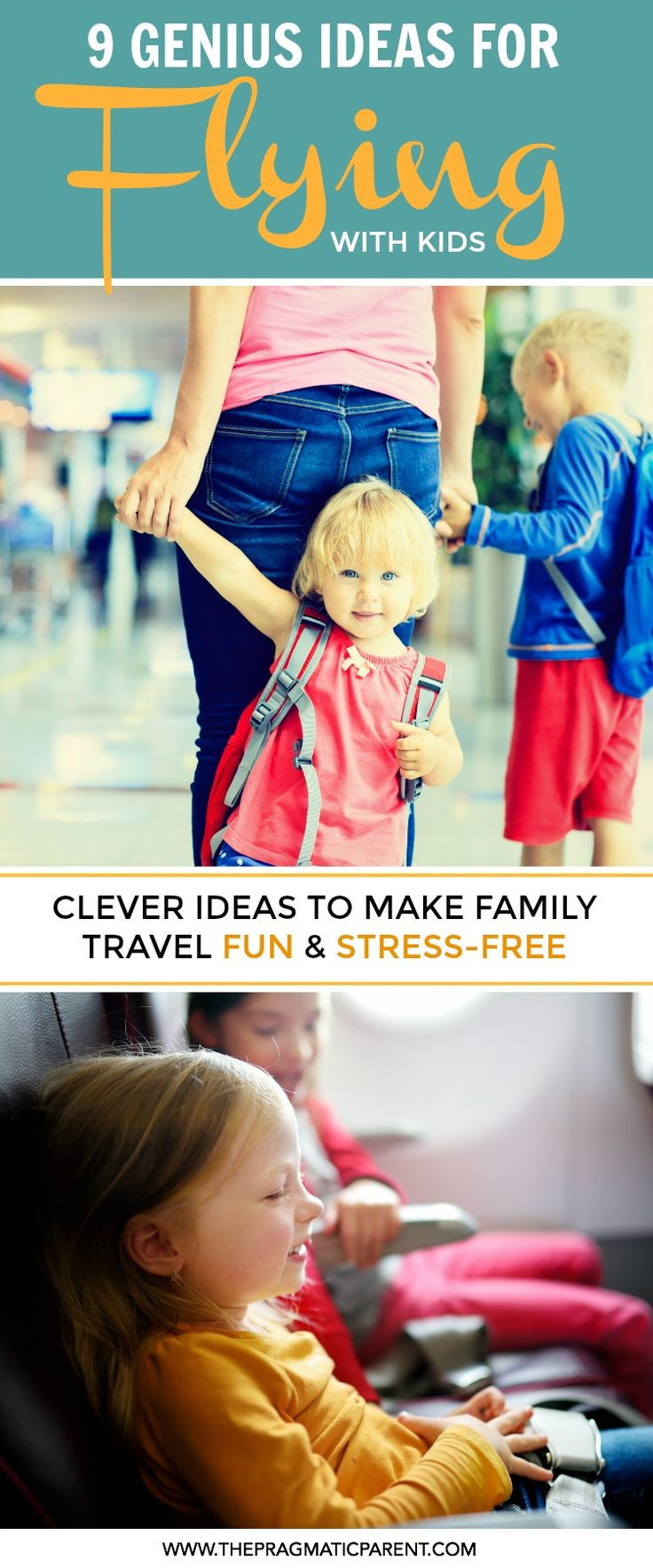 9 Genius Tips to Make Flying with Kids a Breeze. Flying with Kids doesn't have to be stressful, it can be painless and fun if you properly prepare for your flight and bring all the right things. via @https://www.pinterest.com/PragmaticParent/