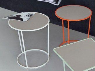 mesa auxiliar redonda de metal para hostelera costance mesita redonda meme design