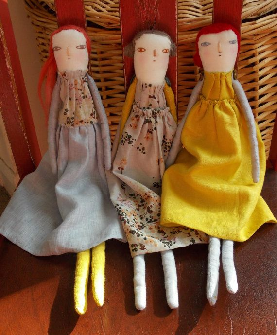 Eloise Handmade cloth and Linen collectable art by melodiestacey