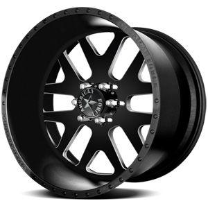 American Force Baus SS6 Flat Black Machined Windows Custom Truck Wheels & Rims