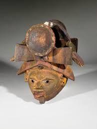 """Gẹ̀lẹ̀dẹ́ - Yorùbá mask worn by female masqueraders. A Yorùbá proverb goes """"awo egúngún lobìnrin lè ṣe, awo gẹ̀lẹ̀dẹ́ lobìnrin lè mọ̀, bí obinrin f'ojú kan orò, orò á gbé e"""". It is the secret of masquerade that women know, it is the secret of gẹ̀lẹ̀dẹ́ that women know, any woman that dare see the 'Orò' cult will be killed by the cult."""