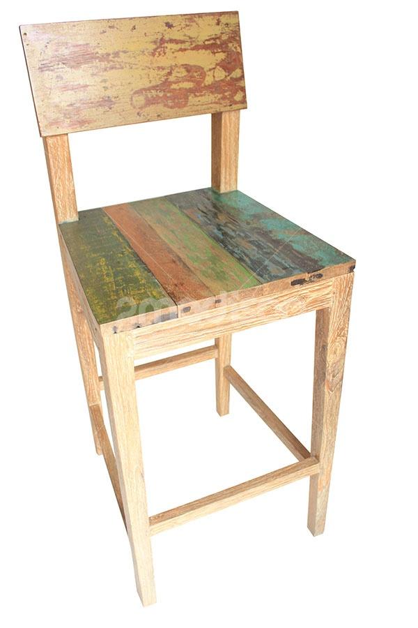 Retro Bar Chair  www.2madison.com  Bar chair yang terbuat dari kayu jati recycle ini siap menghias pojok bar pribadi Anda dengan nuansa retro rustic yang unik, nilai plus lainnya Anda juga menyumbang kelestarian pada alam dengan menggunakan kayu daur ulang.  Designer : Madison  Collection : The Soho Series