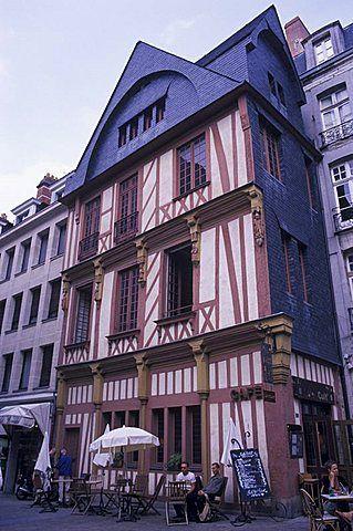 Old timber-frame house, Nantes, Pays de la Loire, Loire Atlantique, France…
