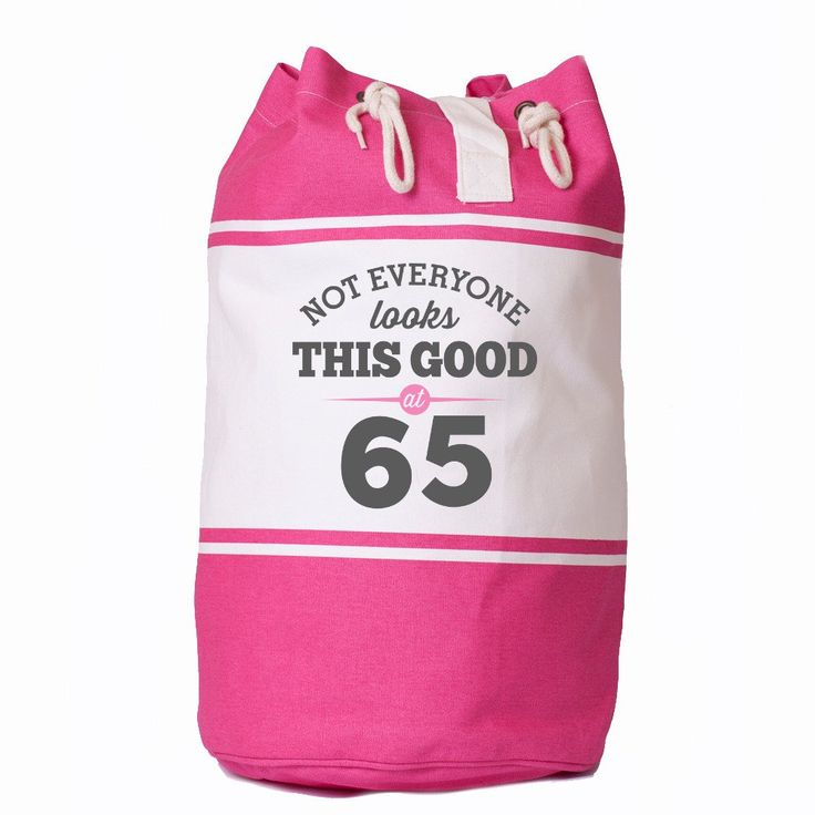 Not Everone Looks this good at 65, Birthday Bag, 65th Birthday, Gift, Keepsake, Funny Gift, Gift For Men, Gift For Women, Novelty Gift, Ladies Gifts, Female Birthday Gift, Male Birthday Gift Idea, Quadra Canvas Duffle Bag