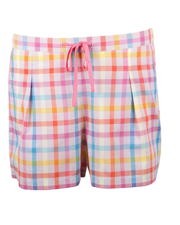 Cute Bernadette Check Pyjama Shorts