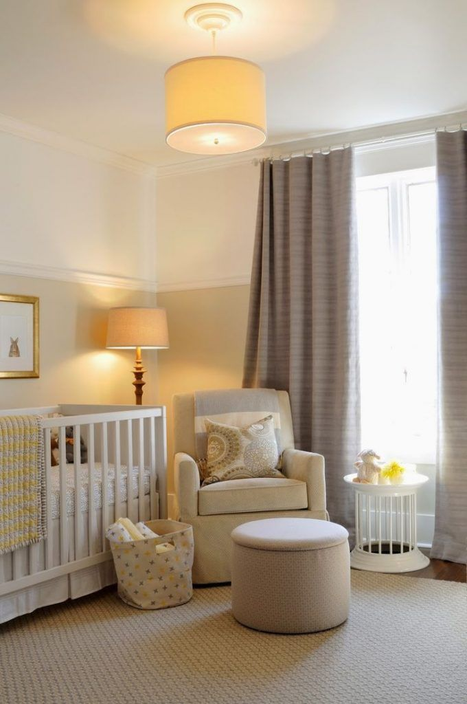 """gender neutral nursery ideasDEB: """"This yellow""""...with the gray...and LOOK...a yellow drum;) ♡"""