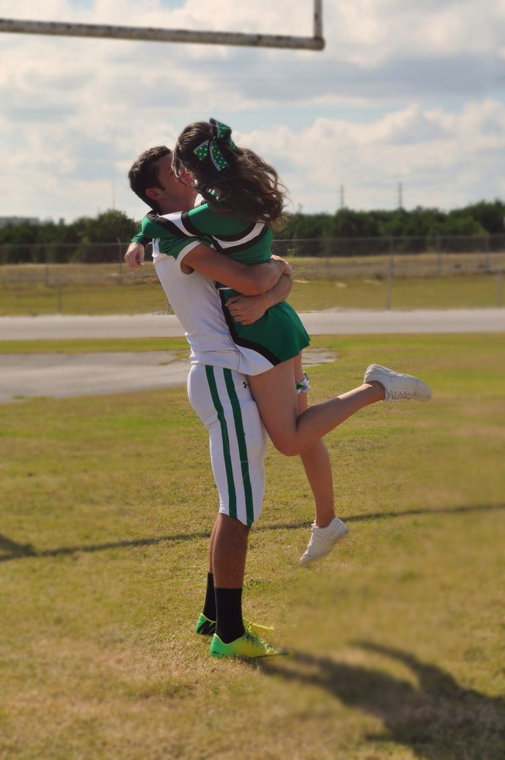Jake & I's football/cheerleader pictures