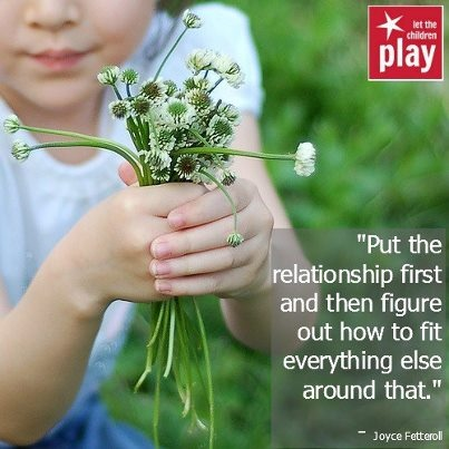 """""""Put the relationship first and then figure out how to fit everything else around that."""" Joyce Fetteroll Great advice."""