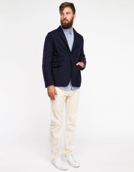 B2B Navy Wool Serge Jacket