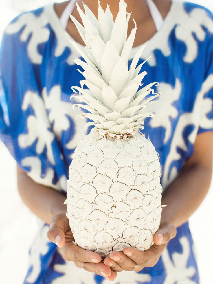 A painted pineapple: Photography : Rachel Red Photography Read More on SMP: http://www.stylemepretty.com/living/2016/05/16/consider-this-the-cliffsnotes-to-throwing-a-killer-party/