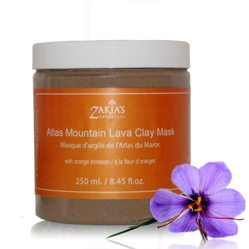 """Atlas Mountain Lava Clay Mask with Orange Blossom by Zakia's Morocco. $29.99. Deliciously smooth and creamy face and body mask. 100% pure, natural and traditional. Deep cleansing for all types of skin conditions. No PEGs, NO Mineral Oil, NO Silicon, NO Parabens, No testing on animals. Full of healing and detoxifying minerals. A smooth, creamy clay face and body mask fused with exotic Fleur d'Oranger. Orange Blossom or """"Fleur d'Oranger"""", has an aroma reminiscent of a cross..."""
