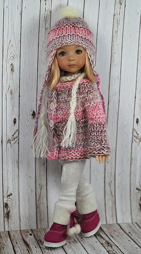 Pinks and greys - you can't beat it! #dressadoll #dolls #clothes: